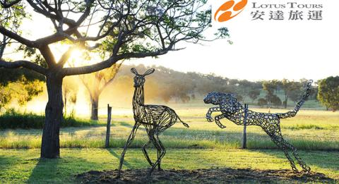 Sculptures on display at Sculptures In The Garden, Rosby Estate, Mudgee
