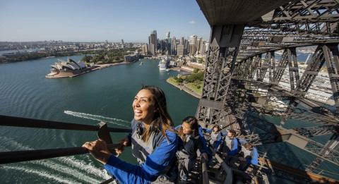 Panoramic views from the Sydney Harbour Bridge with BridgeClimb