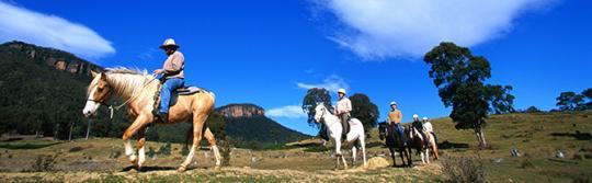 在布萊克希斯(Blackheath)百年紀念格倫馬廐(Centennial Glen Stables)騎馬奔馳