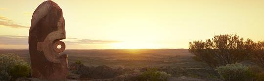 布羅肯山(Broken Hill)Living Desert 雕塑