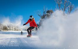 世瑞博(Thredbo)滑板滑雪人士